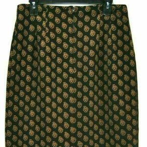 Dressbarn Womens Skirt 12 Lined Pencil Paisley EUC
